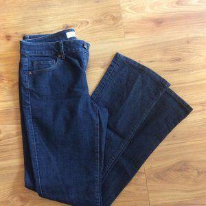 Loft Curvy Boot Size 27 / 4 Blue Jeans